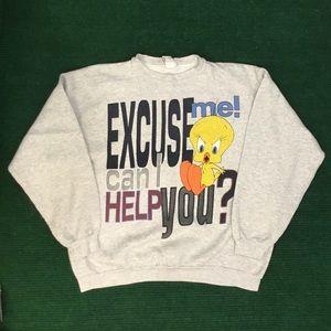 Insane Vintage 90s Tweety Bird sweatshirt